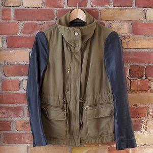 Zara Leather Sleeve Jacket